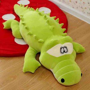 تمساح 300x300 - تمساح خوابيده پارچه استرج سايز 75