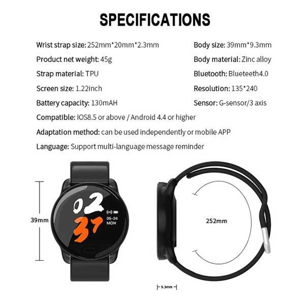 ساعت هوشمند اسمارت بری s15