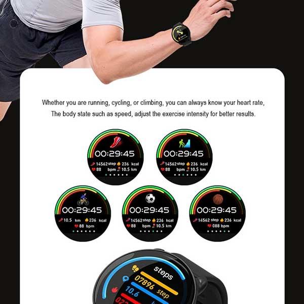 K9 Fitness Bracelet Smart Watch sports monitor  - ساعت هوشمند اسمارت بری s15