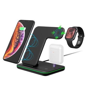 the tekpick station 15w qi 3 in 1 wireless fast charger 809647 360x - شارژر وایرلس سه کاره